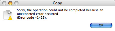 Unhelpful Finder error message (Code -1425)